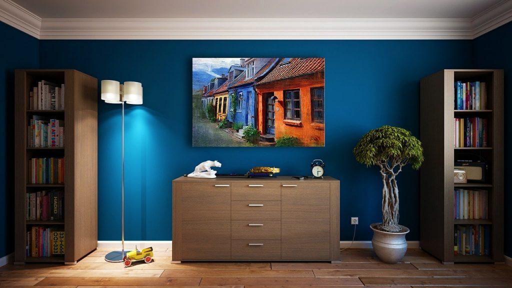 Peinture mate bleue