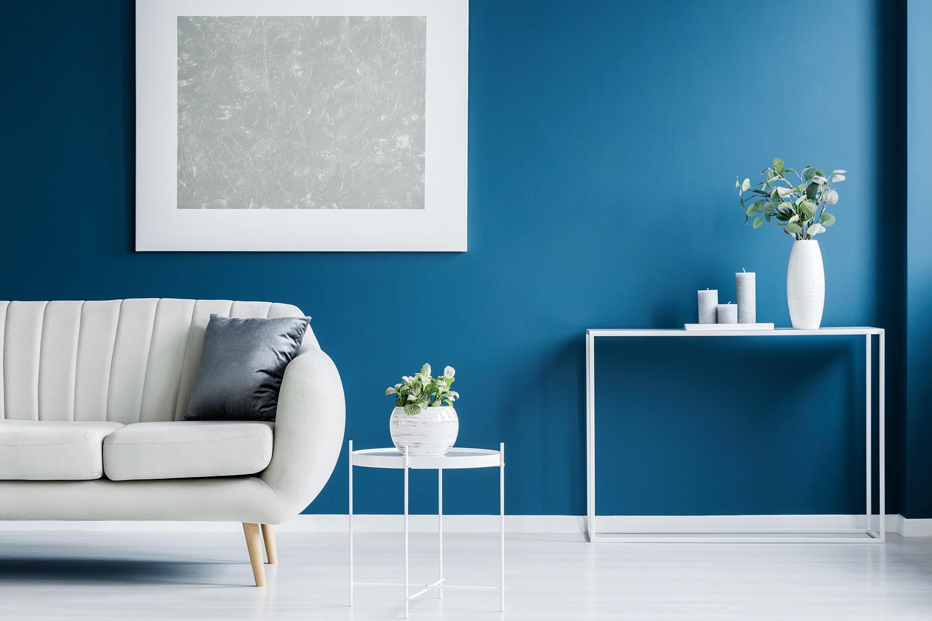 Peinture bleu mur - M2R-peinture